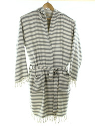 CHEVRON beachrobe bathrobe gray