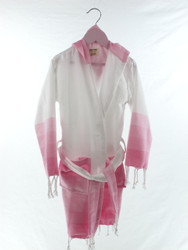 TANGO - Turkish Towel Hooded Beachrobe Bathrobe Children, Pink