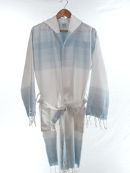 TANGO - Turkish Towel Hooded Beachrobe Bathrobe, Blue