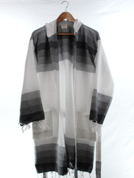 TANGO - Turkish Towel Hooded Beachrobe Bathrobe, Black