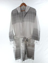 TANGO beachrobe bathrobe gray hooded