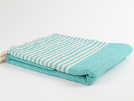 BASKET WEAVE Turkish Towel Turquoise
