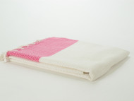 Herringbone Turkish Towel Pink