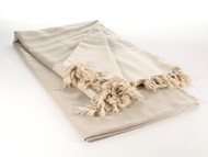 Diamond Throw Blanket Beige