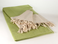 Diamond Throw Blanket Moss Green