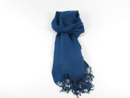 River Shawl Scarf Navy