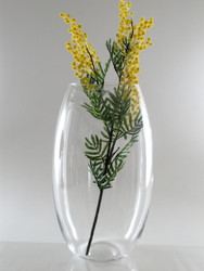 barrel glass vase H41cm D23cm