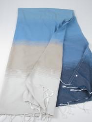 Aqua Turkish towel navy