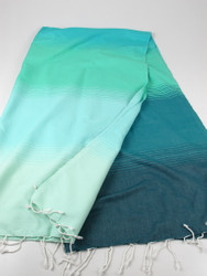 Aqua turkish towel green