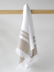 LYKIA Turkish Hand Towel, Brown