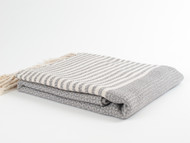 BASKET WEAVE Turkish Towel Gray