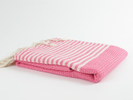 BASKET WEAVE Turkish Towel, Peshtemal, Pink