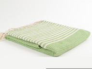 BASKET WEAVE Turkish Towel Green