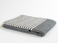 BASKET WEAVE Turkish Towel Black