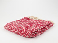 Teardrop Turkish Towel Peshtemal Red