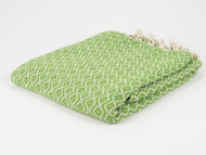 Teardrop Turkish Towel Peshtemal Green
