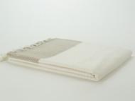 Herringbone Turkish Towel Peshtemal Beige
