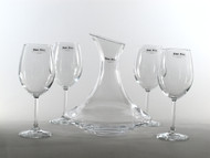 Pasabahce Carafe 1.0L and 4 Stemware 360mL Set