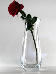 flared glass vase H30cm