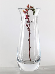 flared glass vase H20cm