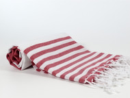 Lily Turkish Towel Peshtemal, Red