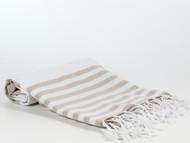 Lily Turkish Towel Peshtemal, Beige