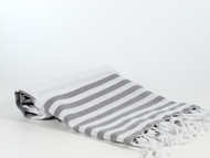 Lily Turkish Towel Peshtemal, Gray