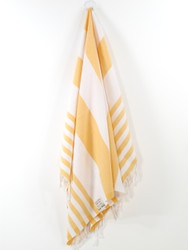 Lily Turkish Hand Towel, Tea Towel, Headwrap, Yellow