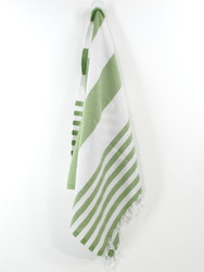 Lily Turkish Hand Towel, Tea Towel, Headwrap, Green
