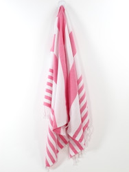 Lily Turkish Hand Towel, Tea Towel, Headwrap, Pink