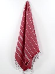 Classic Turkish Hand Towel, Tea Towel, Headwrap, Red