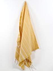 Classic Turkish Hand Towel, Tea Towel, Headwrap, Yellow