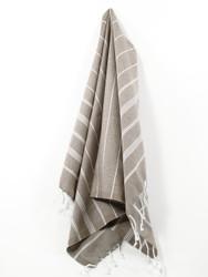 Classic Turkish Hand Towel, Tea Towel, Headwrap, Brown