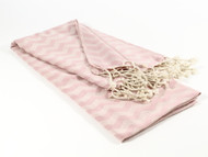 Waves Turkish Towel, Peshtemal, Pink