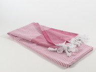 Horizon Turkish Towel, Peshtemal, Pink