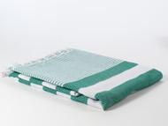 Coral Turkish Towel, Peshtemal, Green
