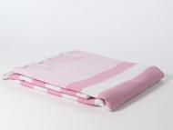 Coral Turkish Towel, Peshtemal, Pink