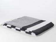 Coral Turkish Towel, Peshtemal, Black