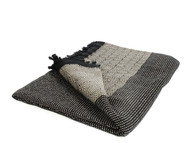 Diamond Double Throw, Blanket, Beige