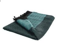 Diamond Double Throw, Blanket, Turquoise