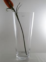 conical glass vase H50cm D23cm