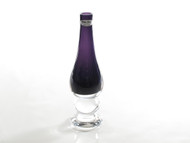 Time Tree Purple Footed Turkish Glass Bud Vase Height 24 cm