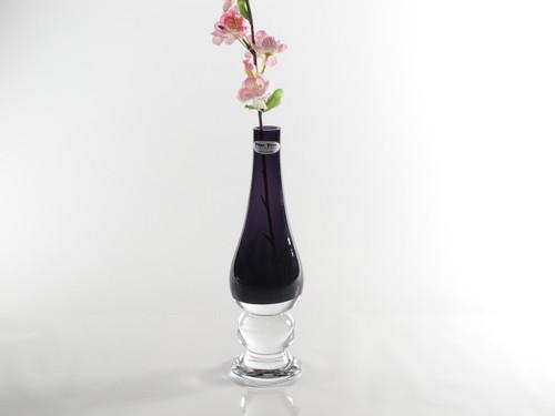 Time Tree Purple Footed Turkish Glass Bud Vase Height 24 cm