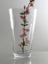 conical glass vase H30cm D17cm