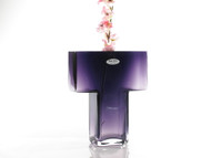 Time Tree Purple T Shape Turkish Glass Vase