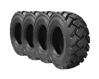 S205 Bobcat 10X16.5 Skid Steer Tires - Pneumatic Heavy Duty (4 Tires)