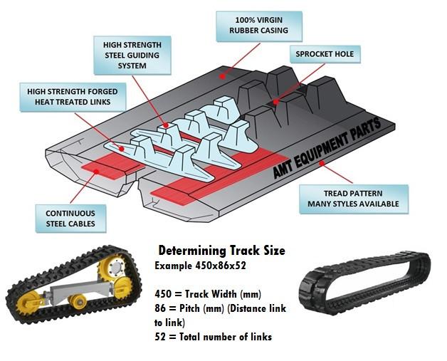 Kubota KX121-3 Rubber Track - Pair 350x54 5x86