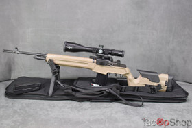 Springfield M1A in Tan 7.62NATO / .308 Winchester, Fully Equipped, 25x Scope, etc.