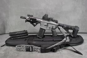 DB15P AR-15 Tactical Pistol In Gray New Upgraded LoPro Mini Laser/Flashlight Combo