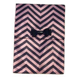 MAC Glamour Daze Collection Pink and Black Chevron Makeup Cosmetic Bag